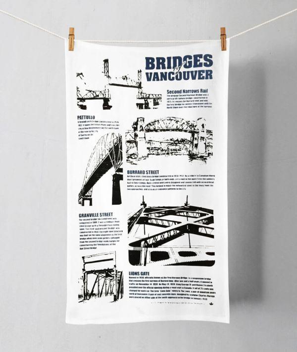 Bridges tea towel