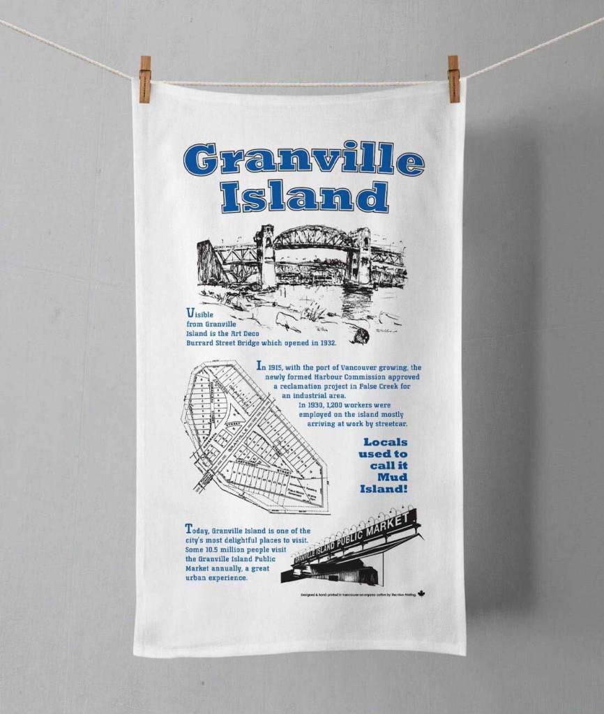 The Hive Printing Granville Island Tea Towel
