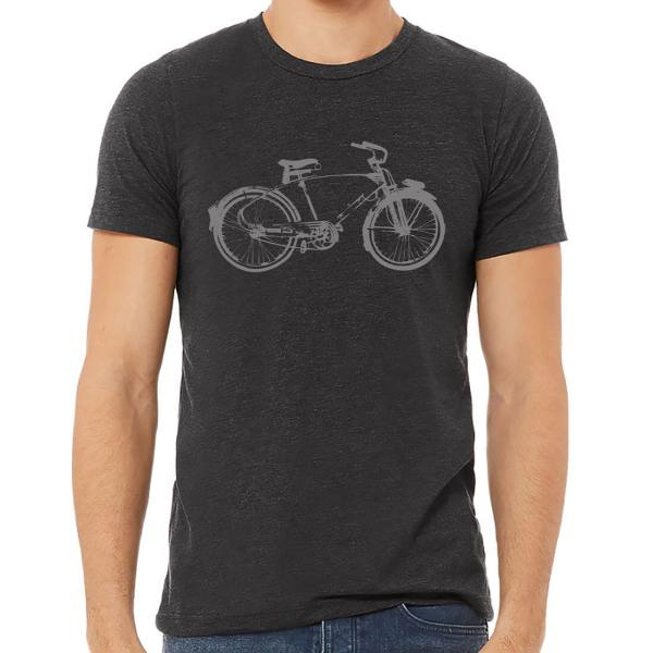 The Hive Printing Monark Bicycle Charcoal Unisex T-Shirt