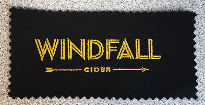 Windfall Cider sew out