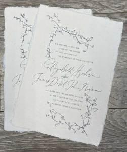 Custom wedding invitation by The Hive Printing
